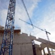 New building during construction — Stock Photo