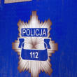 Stock Photo: Polish Police sign