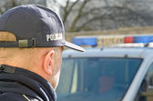 Polish Police sign — Stock Photo