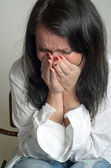 Desperate weeping woman — Stockfoto