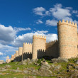 Medieval city wall built in the Romanesque style, Avila, Spain — Stock Photo #27115191