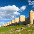 Medieval city wall built in the Romanesque style, Avila, Spain — Stock Photo