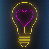 Neon heart — Stock Photo