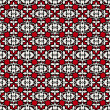 Royalty-Free Stock Photo: Abstract  background, red, white and black seamless pattern