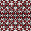 Abstract background, red, white and black seamless pattern — Stock Photo