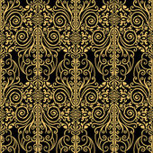 Abstract, royal, gold and black vintage background — Stock Photo