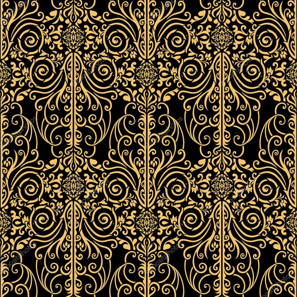 Abstract, royal, gold and black vintage background — Stock ...