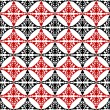 Abstract geometric background, red, white and black seamless — Stock Photo