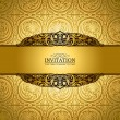 Vintage background, antique, victorian gold ornament, baroque - Stock Photo
