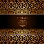 Vintage background, antique, victorian gold ornament, baroque — Stock Photo