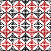 Abstracte geometrische achtergrond, rood, wit en zwart naadloze — Stockfoto