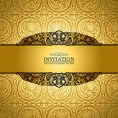 Vintage achtergrond, antieke, victoriaanse gold sieraad, barokke — Stockfoto