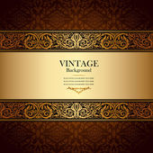 Vintage background, antique, victorian gold ornament, baroque — Stock Photo