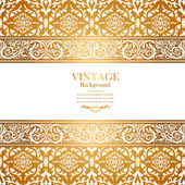 Vintage royal background, antique, victorian gold ornament — Stock Photo