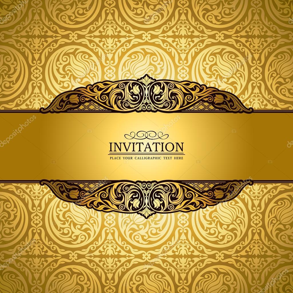 fond vintage antique victorien or ornement baroque. Black Bedroom Furniture Sets. Home Design Ideas