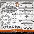 Vintage ornaments and dividers, calligraphic design elements - Stock Photo