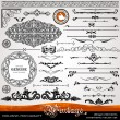 Vintage ornaments and dividers, calligraphic design elements — Stock Photo