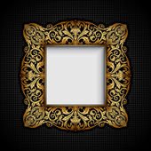 Vintage ornamental frame, rich, royal, luxury, creative, design — Stock fotografie