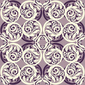 Vintage creative background with rich, old style, artistic swirl — Stock Photo