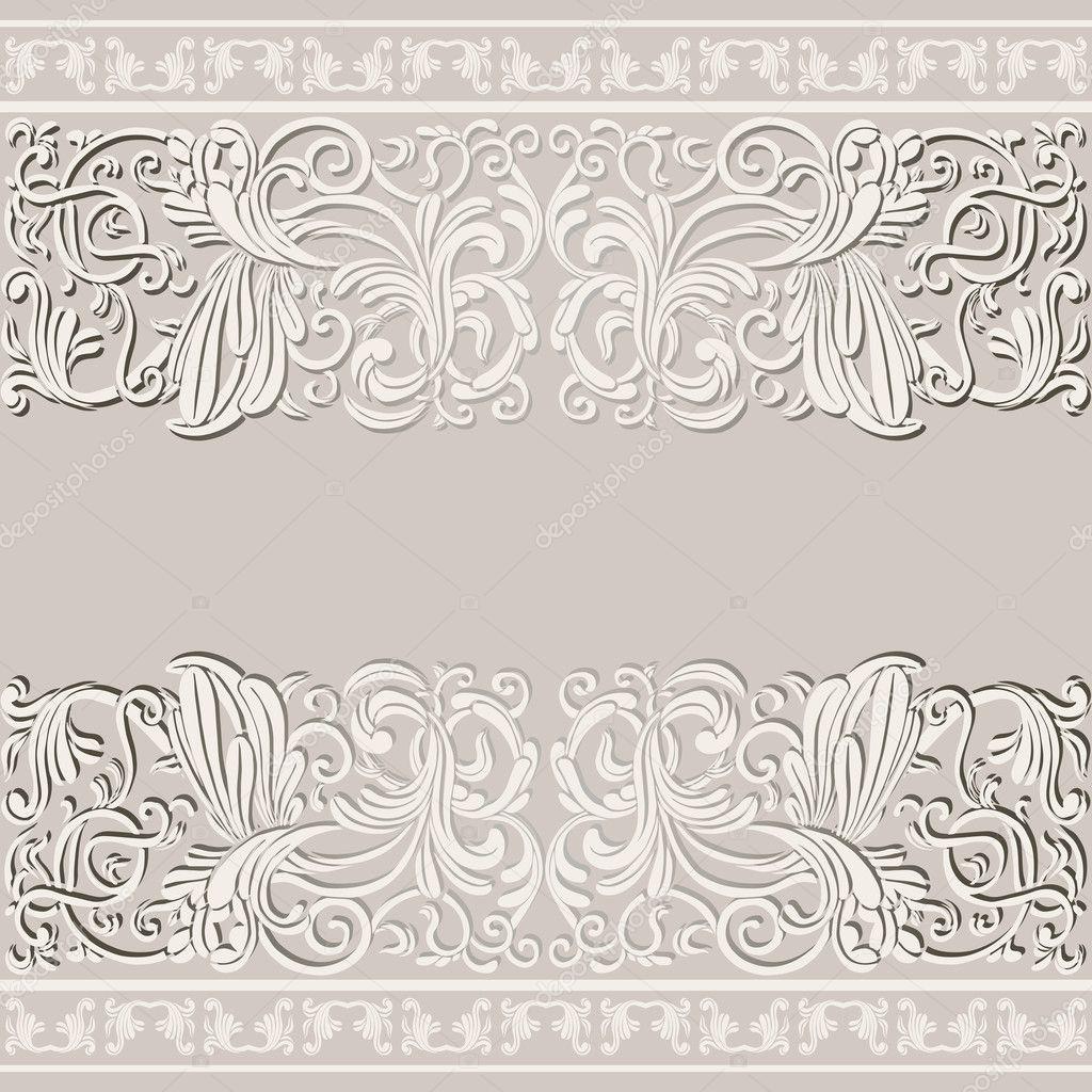 tarjeta de lujo, antigua de boda — Foto de stock © meginn #18819277