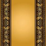 Vintage, elegant background, antique, victorian floral frame — Stock Photo
