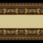 Vintage background, elegant antique, victorian gold, floral orna — Stock Vector