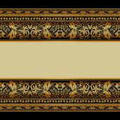 Vintage background, elegant antique, victorian gold, floral orna — Vecteur