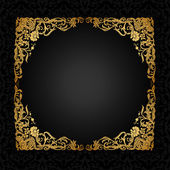 Vintage background with antique, luxury, black and gold ornament — Vector de stock