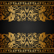 Vintage background, elegance antique, victorian gold, floral ornament - Stock Vector