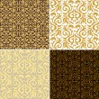 Vintage backgrounds, classic ornament, beautiful seamless pattern - Stock Vector