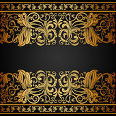 Vintage background, elegance antique, victorian gold, floral ornament — Stock Vector