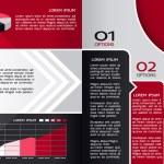 moderna formgivningsmall broschyr, kan användas till infographics, grafiska konceptet, kreativa webbplats layout, röda och svarta färger — Stockvektor  #22981774
