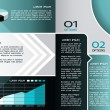 Modern Design Brochure template, can be used to infographics , graphic concept, creative website layout, blue color - Stock Vector