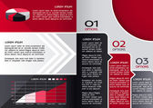 Modern Design Brochure template, can be used to infographics , graphic concept, creative website layout, red and black colors — Stock Vector