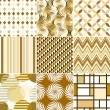 Royalty-Free Stock Vector Image: Retro backgrounds set, cream and beige, seamless patterns
