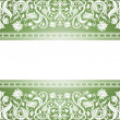 Royalty-Free Stock Obraz wektorowy: Vintage green background, floral antique card, victorian white
