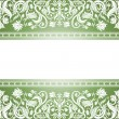 Royalty-Free Stock Vectorafbeeldingen: Vintage green background, floral antique card, victorian white
