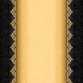 Fondo vintage, antigua tarjeta de felicitación, invitación negra — Vector de stock