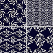 Vintage backgrounds, classic ornament, beautiful seamless patterns — Stock Vector