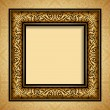 Vintage gold frame, antique background, baroque, victorian ornament — Stock Vector #33313093