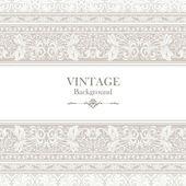 Старинный фон, elegance antique, викторианский, цветочный орнамент, рамка барокко — Cтоковый вектор