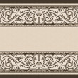 Vintage background, antique, victorian ornament, baroque frame — Stock Vector