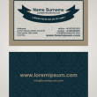 Business Card creative design, elegant style print, front and back samples, templates in classic colors — Stock Vector