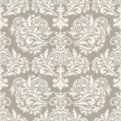 Damask beautiful background with rich, old style, luxury ornamentation, beige fashioned seamless pattern, elegant — Stock Vector