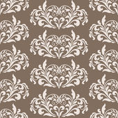 Damask beautiful background with rich, old style, luxury ornamentation, brown fashioned seamless pattern — Stock Vector