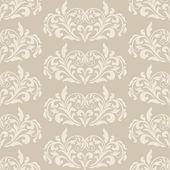 Damask beautiful background with rich, old style, luxury ornamentation, cream fashioned seamless pattern, elegant, royal vector wallpaper — Stock Vector