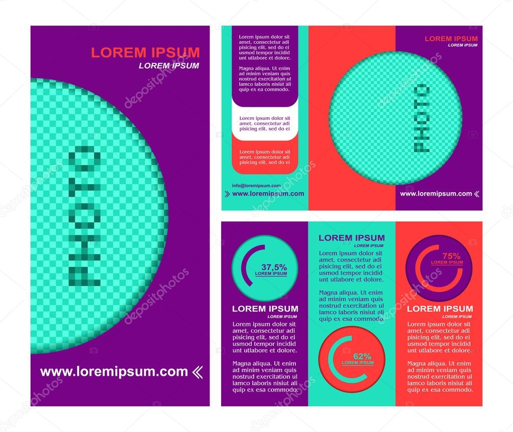 Business brochure layout three fold flyer template design – Three Fold Flyer Template
