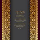 Vintage background design, elegant book cover, victorian style invitation card — Stock Vector