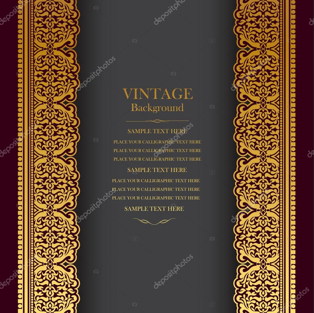 Vintage Book Cover Invitations ~ Vintage background design elegant book cover victorian