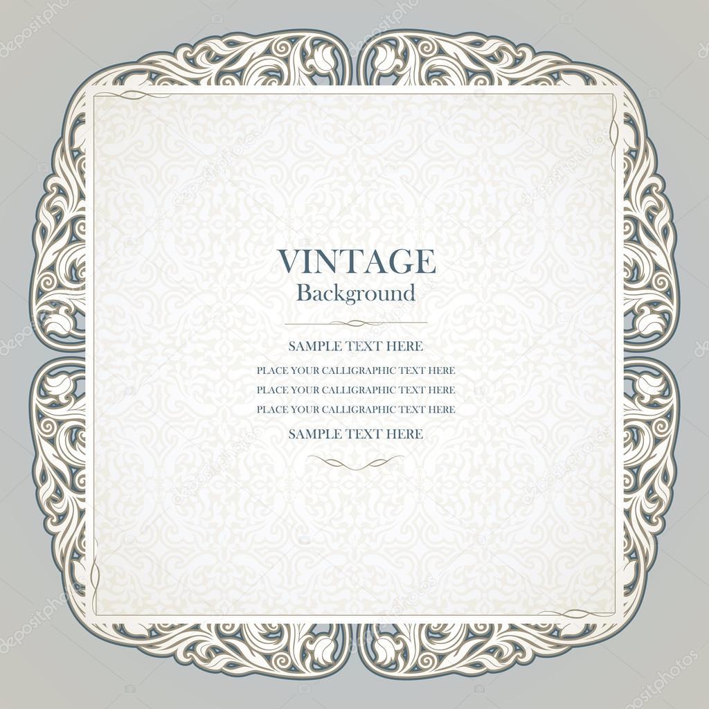 Vintage background elegant wedding invitation card victorian – Black and White Vintage Wedding Invitations